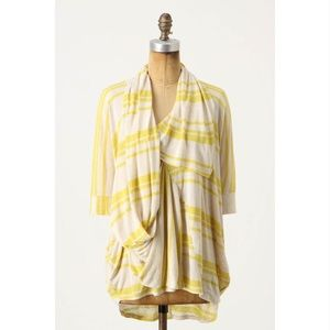C. Keer Ride the Wave Dolman Top Cowl Blouse